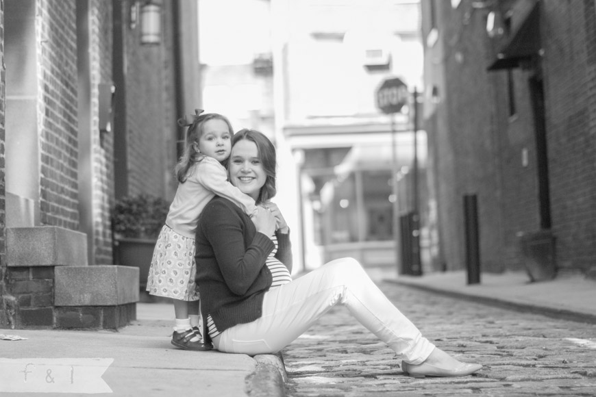 feather + light photography maternity mother and daughter session Philadelphia, PA