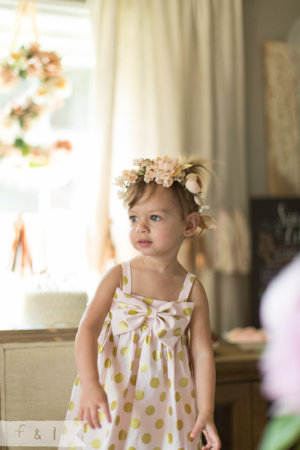 feather + light photography | Second Birthday Party | Pink + Gold | Floral Number | Birthday Dress