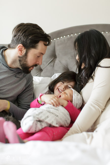 feather + light photography | main line , pa newborn photographer | newborn + family photo