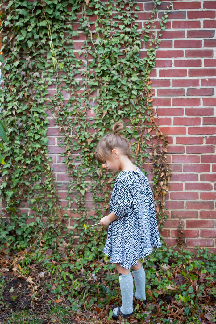 feather + light photography | child fashion blogger | james vincent design co | messy dot dress | little girl fashion