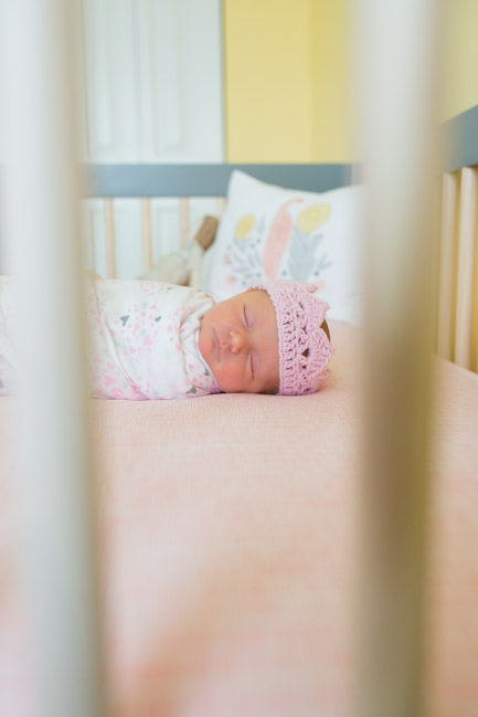 feather + light photography | main line pa newborn lifestyle photographer | newborn | it's a girl