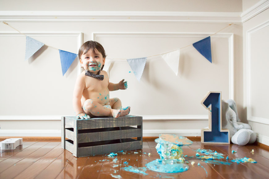 Bash's Mini Cake Smash - Rockville, MD {Cake Smash}