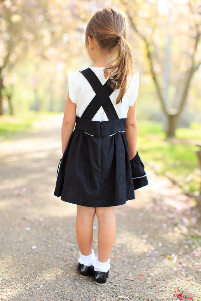 feather + light photography | sadie then ty suspender skirt | little girl style | children's fashion blogger | kid style | timeless