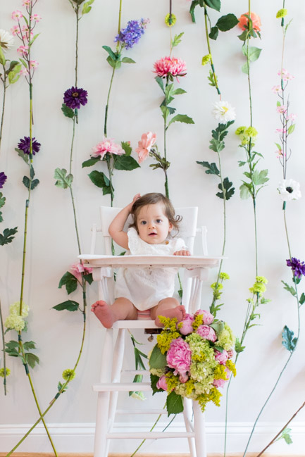 feather + light photography | child first birthday | flowers | first birthday
