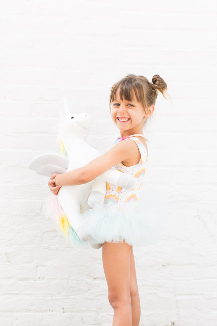 feather + light photography | unicorn + rainbow | 5 year old girl birthday | wrare doll | child fashion blogger