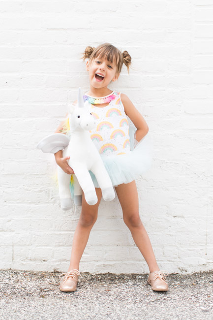 feather + light photography | unicorn + rainbow | 5 year old girl birthday | wrare doll | child fashion blogger