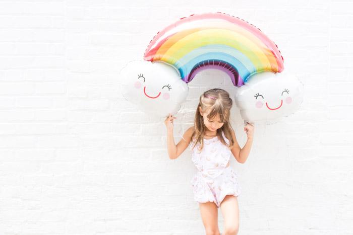 feather + light photography | child fashion blogger | little girl style | rainbows | paush