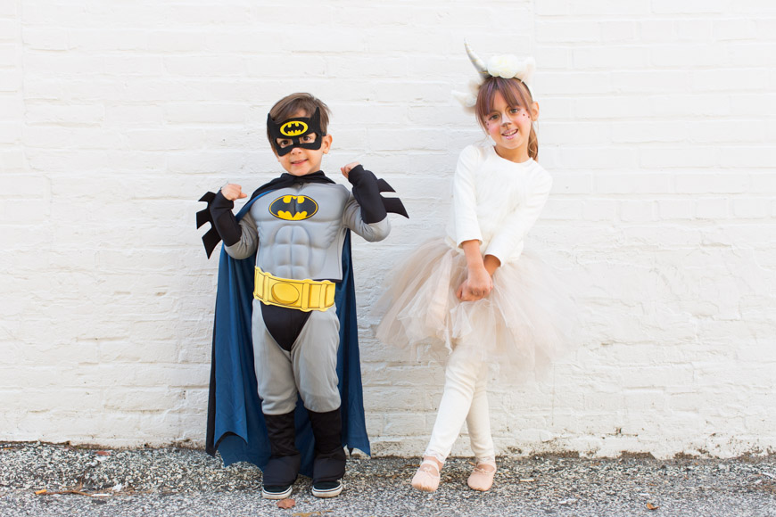 feather + light photography | halloween costumes | batman + unicorn | sibling costume