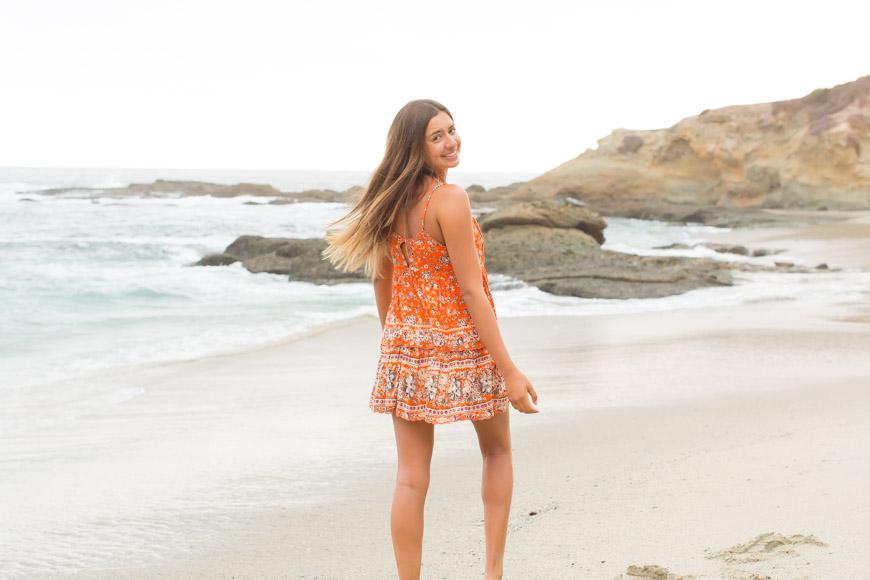Orange County Senior Natural Light photographer | senior beach photos | Laguna Beach, CA